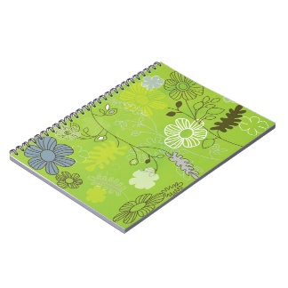 green-flower notebook