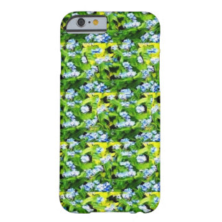 Green flower pattern barely there iPhone 6 case