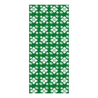 Green flower pattern rack card template