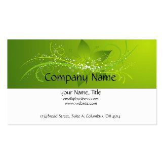 Green Flower Star Business Card