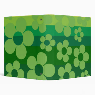 Green Flowers Binders