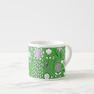 Green Flowers Espresso Cup