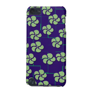 GREEN FLOWERS ON BLUE iPod Touch Speck Case