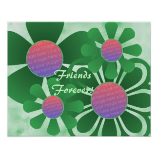 Green Flowers Photo Frame Print - Customized