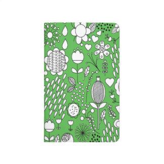 Green Flowers Pocket Journal