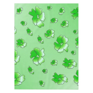 Green Flowers Tablecloth