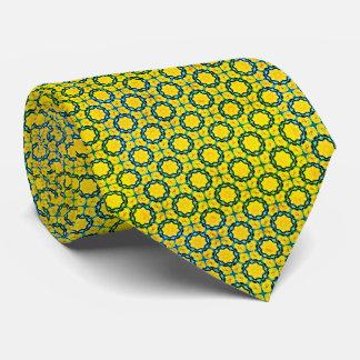 Green flowers tie