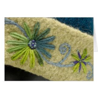 Green Flowers & Vine Card