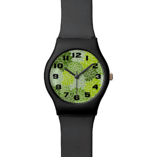 Green Flowers Watch