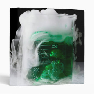 Green Fluid Beaker 3 Ring Binder