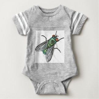 green fly baby bodysuit