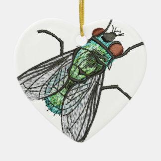 green fly ceramic ornament