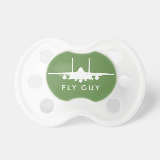 Green Fly Guy Strike Eagle Silhouette Pacifier