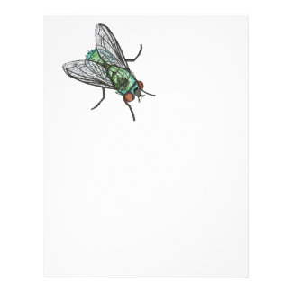 green fly - imitation of embroidery letterhead