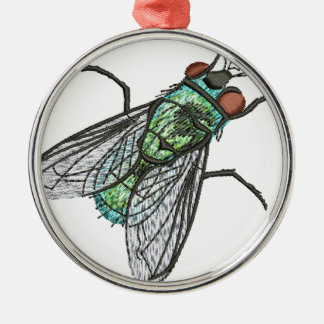 green fly metal ornament