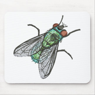 green fly mouse pad