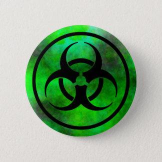 Green Fog Biohazard Symbol Button