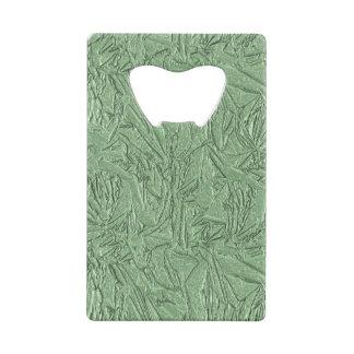 Green Foil Design Wallet Bottle Opener