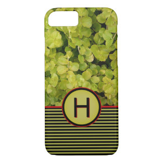 Green Foliage Monogram iPhone 8/7 Case