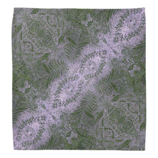 Green Foliage Pattern Head Kerchief