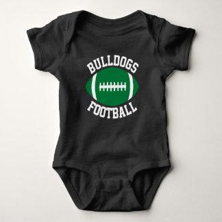 Green Football Custom Team, Player, Color & Number Baby Bodysuit