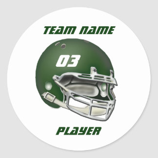 Green Football Helmet Sticker
