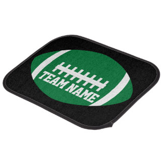 Green Football Player or Coach Custom Team Name Car Mat