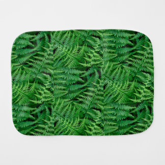 Green Forest Ferns for baby: Burp Cloth