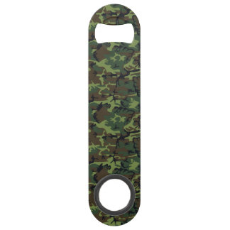 Green Forest Military Camouflage Pattern Bar Key