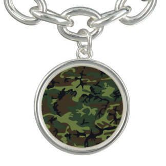 Green Forest Military Camouflage Pattern Bracelet