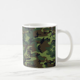 Green Forest Military Camouflage Pattern Coffee Mug