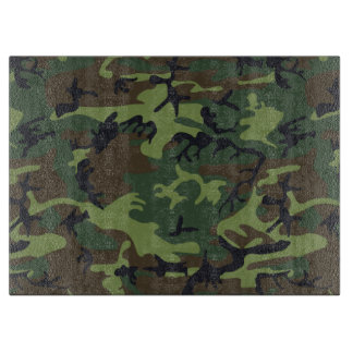Green Forest Military Camouflage Pattern Cutting Board