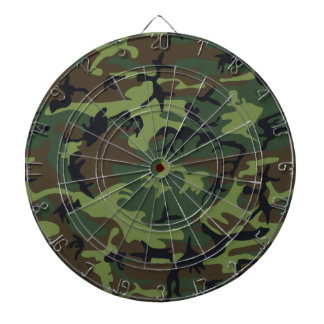 Green Forest Military Camouflage Pattern Dartboard