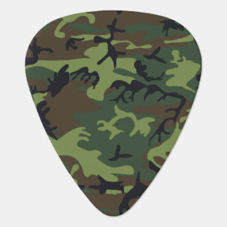 Green Forest Military Camouflage Pattern Guitar Pick
