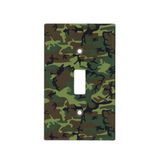 Green Forest Military Camouflage Pattern Light Switch Cover