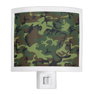 Green Forest Military Camouflage Pattern Nite Light