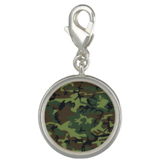 Green Forest Military Camouflage Pattern Photo Charm