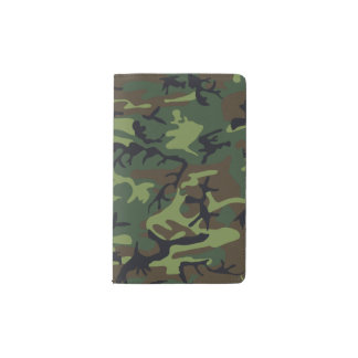 Green Forest Military Camouflage Pattern Pocket Moleskine Notebook