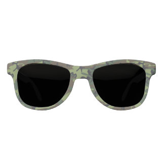 Green Forest Military Camouflage Pattern Sunglasses