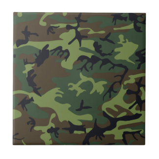 Green Forest Military Camouflage Pattern Tile