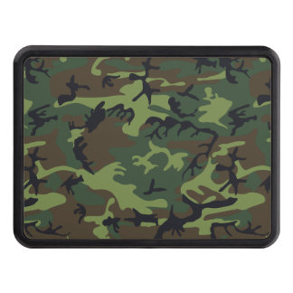 Green Forest Military Camouflage Pattern Trailer Hitch Cover