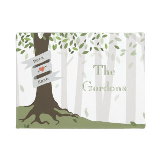 Green Forest Personalized Doormat