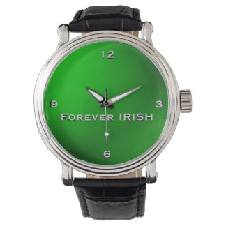 Green Forever IRISH Monogram Watch
