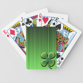 Green Four Leaf Clover Bicycle Playing Cards