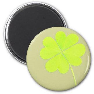 Green Four Leaf Clover Refrigerator Magnets
