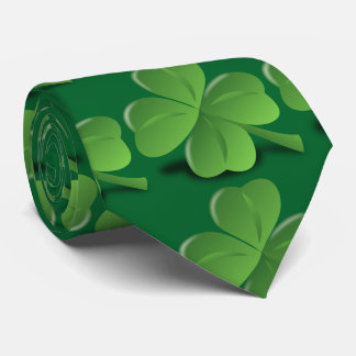 Green Four Leaf Clover Men's Tie