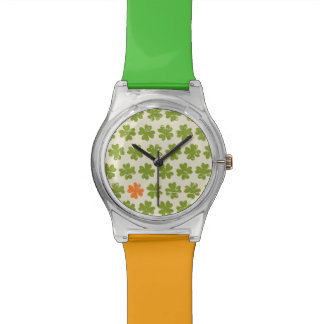 Green Four-leaf Clover Pattern Wristwatches