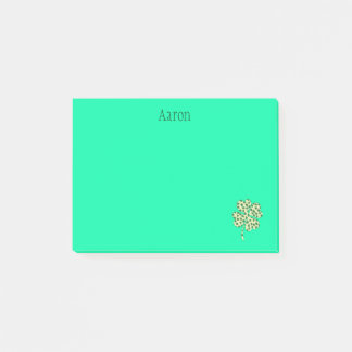 Green Four leaf Clover Post-it Notes