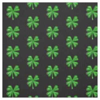 Green Four Leaf Clover Shamrock Fabric