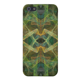 Green Fractal 4  Case For iPhone 5/5S